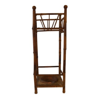 Antique American Bamboo Umbrella Stand