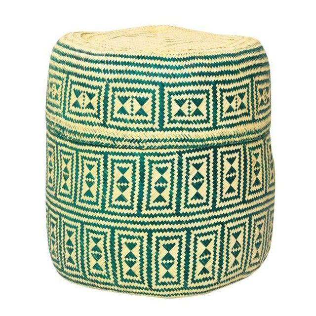 Green Handmade Oaxacan Jarrito Basket - Image 1 of 4