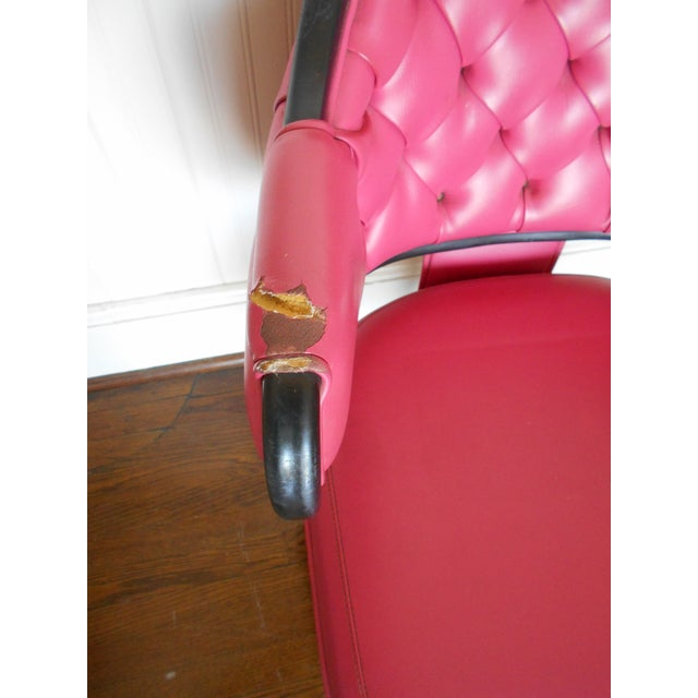 Pink Tufted Swivel Chair - Image 7 of 10