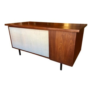 Mid Century Modern Walnut Alma Architectural Series Executive Desk