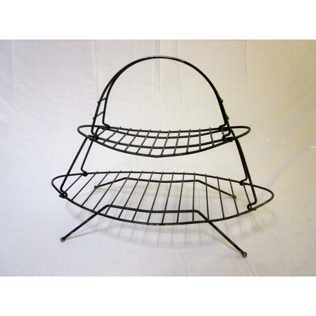 Mid-Century Modern Modernist Wire Magazine Rack - Image 2 of 6