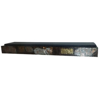 Paul Evans Brutalist Patchwork Wall Shelf with Slate Top
