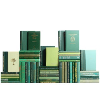 Modern Green Book Wall - Set of 50