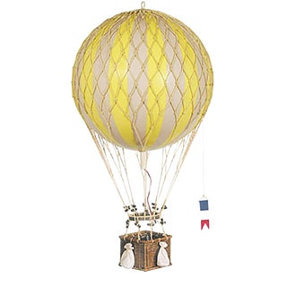 Hot Air Balloon- Yellow- Medium