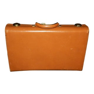 Vintage Caramel Leather Briefcase