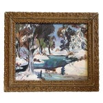 Image of Antique Winter Wonderland Painting
