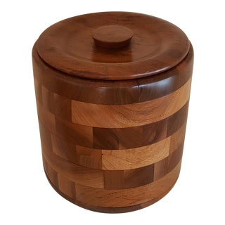Kustom Kraft Mid-Century Walnut Ice Bucket