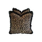 Image of Custom Safari Leopard Velvet & Down Pillows - Pair