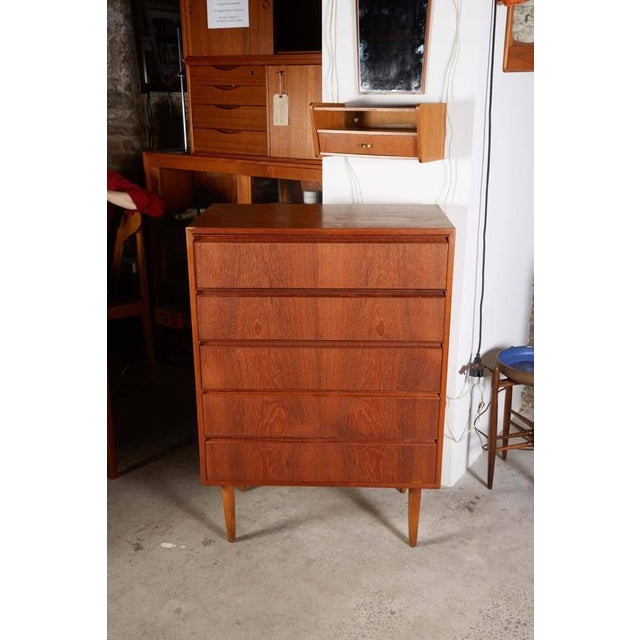 Danish Teak Highboy Dresser - Image 6 of 7