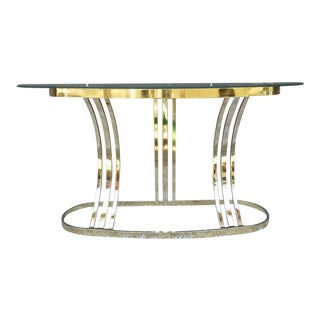 Milo Baughman DIA Brass & Glass Sofa Table