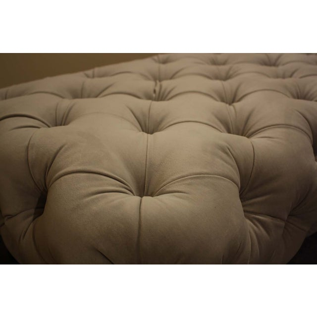 Image of Nathan Anthony Sabine Ottoman in Gray Velvet