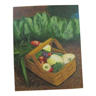 Basket of Vegetables Acrylic Painting