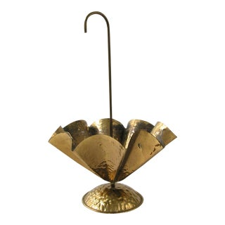Vintage Brass Umbrella Bowl