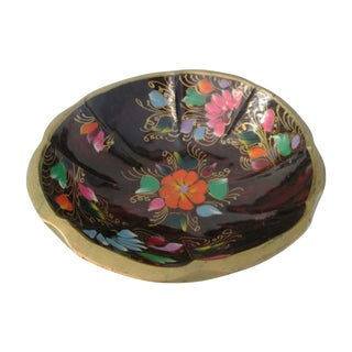 Large Mexican Batea Hand-Painted Wood Bowl