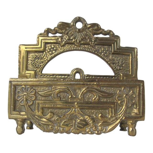 Image of Vintage Brass Business Card Holder