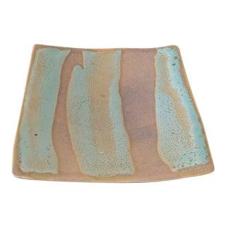 Signed Glazed Pottery Art Plate