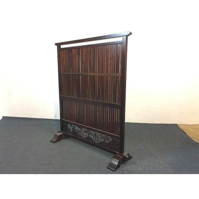 Decorative carved wooden screen chairish