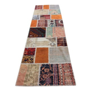 Turkish Overdyed Patchwork Oushak Rug - 2′8″ × 9′10″
