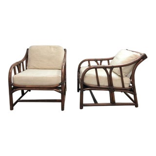 Ficks Reed Vintage 1960's Rattan Chairs - A Pair