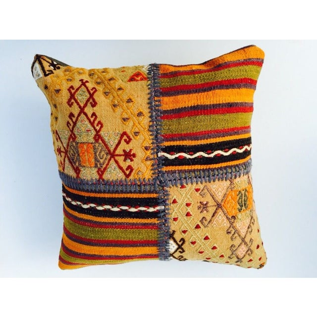 VINTAGE Turkish Kilim Pillow - Image 4 of 5