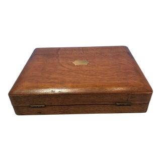 Small English Oak Cutlery Box