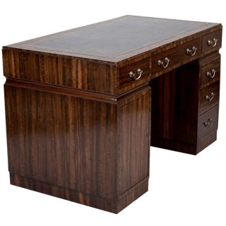 Art Deco Coromandel Desk with Leather Top
