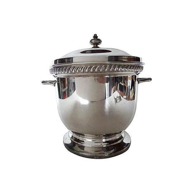 Silverplate-Covered Ice Bucket With Insulation - Image 1 of 5