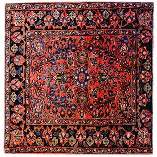 Exceptional Early 20th Century Petite Sarouk Rug - 2′2″ × 2′8″