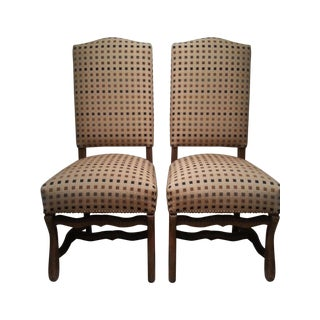 Antique French Beige Side Chairs - A Pair