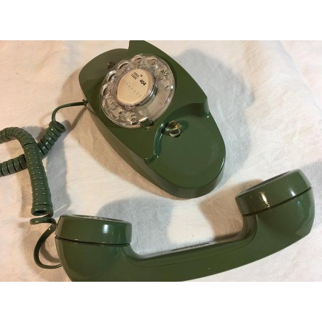 Vintage Pea Green Rotary Princess Phone - Image 7 of 8