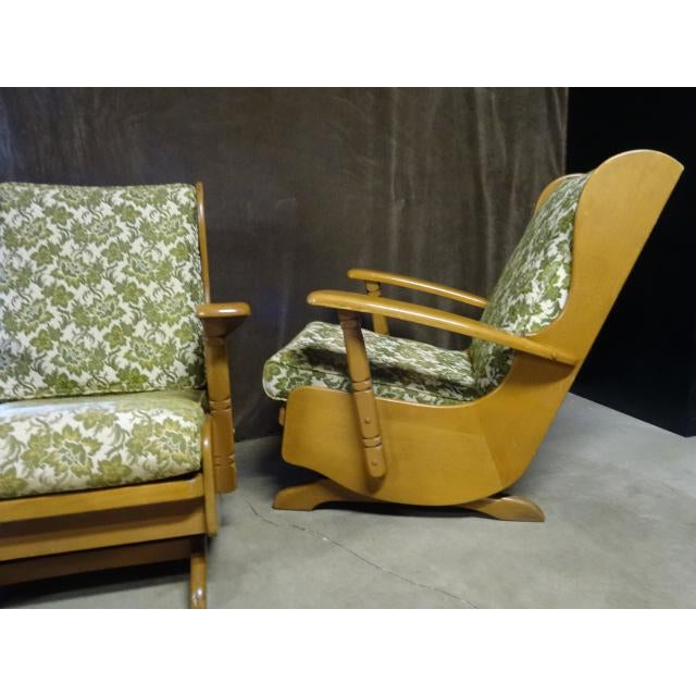 Mid-Century Cushman Style Colonial Platform Rocking Chairs - A Pair - Image 5 of 8