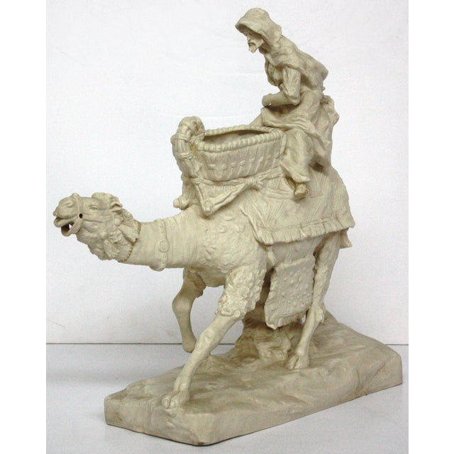 Image of Parian Ware Arabian Camel with Bedouin Rider by Imperial-Amphora / Turn, Austria