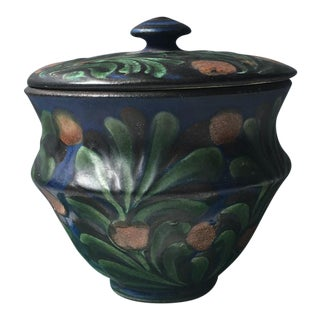 Herman August Kahler Covered Pottery Jar