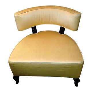 Mod Slipper Chair in Custom Gold Upholstery