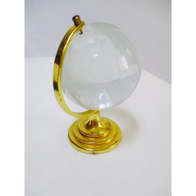 Image of Glass Globe Paperweight & Lucite Miniature Globes - Set of 3