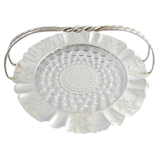 Vintage Glass & Aluminum Basket