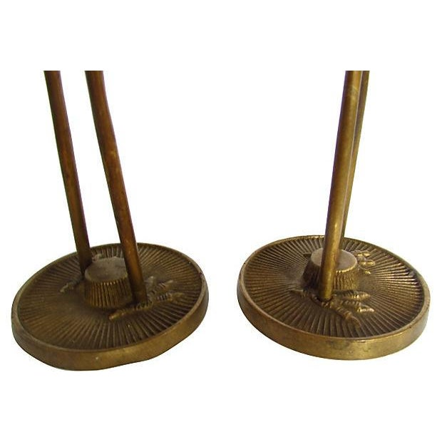 Modern Brass Egrets - A Pair - Image 4 of 4