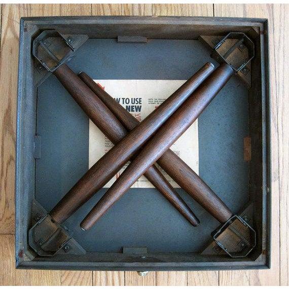 Mark Adam Mid-Century Walnut Folding Tables - Pair - Image 6 of 7