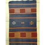 "Image of Moroccan Cactus Silk Flat Weave Kilim Runner Rug - 25"" x 108"""