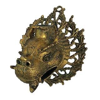Brass Medievel Dragon Candlestick Sconce