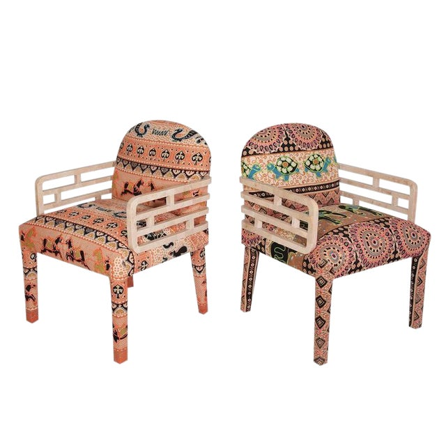 Maitland-Smith Tessellated Stone Side Chairs - A Pair - Image 1 of 4