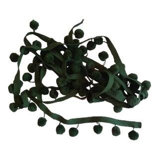 Vintage Spruce Green Pom Pom Fringe - 3 Yards