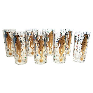 Culver Mardi Gras Tumblers - Set of 8