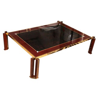 Italian Art Deco Macassar Ebony Coffee Table