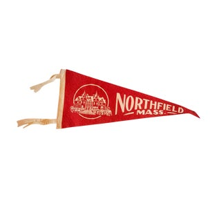 Vintage Northfield, Mass. Felt Flag