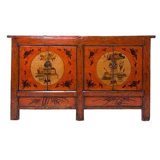 Orange Painted Cabinet