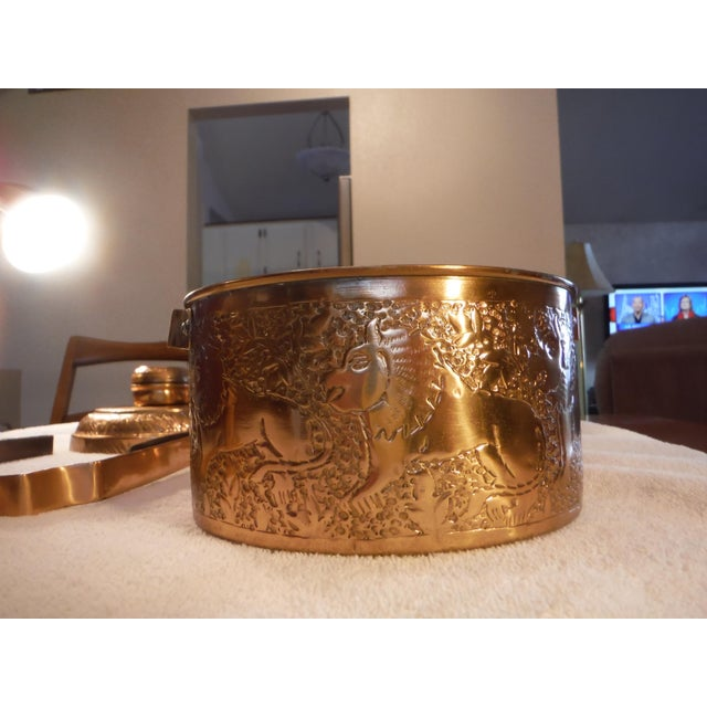 "Image of Vintage Copper Clad ""Tiffin"" or ""Dabba"""