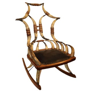 Mid-19th Century Horn Rocker Chair