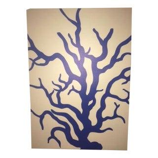 Designer ThomasPaul, Blue Coral Print on Canvas