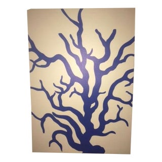 Designer ThomasPaul, Blue Coral Print on Canvas